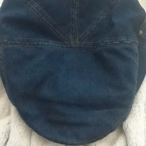 DNY jean apple hat w/ pocket